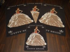 ROMANY GYPSY WASHABLES 2017/18 SET OF 4 MATS/RUGS GYPSY BRIDE DARK GREY/BEIGE